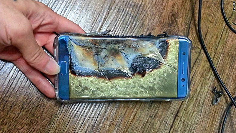 Samsung Galaxy Note 7 explota