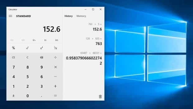 Windows 10 Calculadora