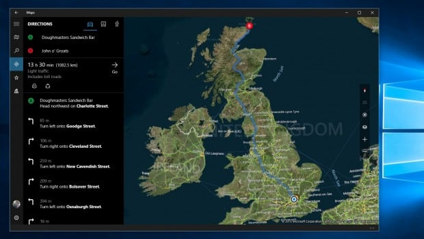 Windows 10 Mapas