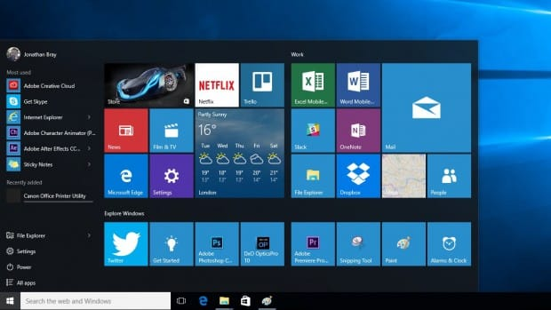Windows 10 Menú Inicio