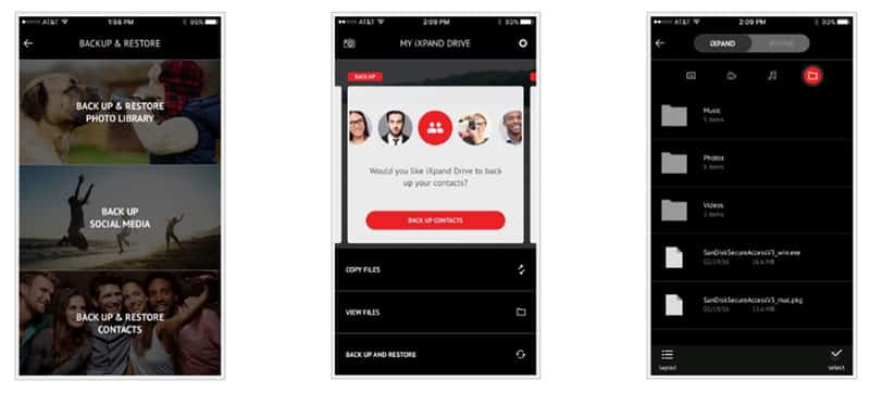 SanDisk iXpand Mobile app