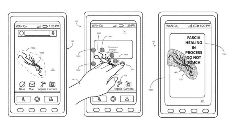 Motorola Patente teléfono autoreparable