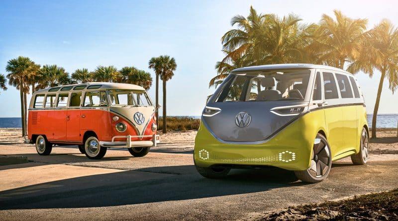 Volkswagen Transporter clásica y eléctrica