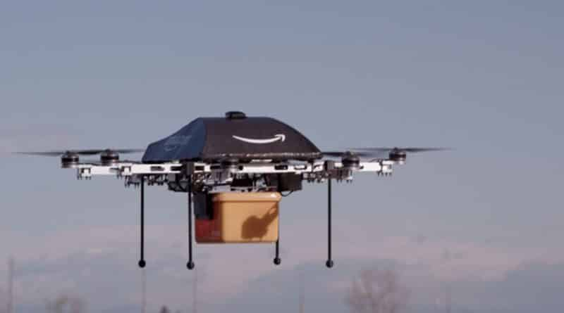 Amazon quiere un dron teledirigido para recargar tu coche eléctrico en movimiento