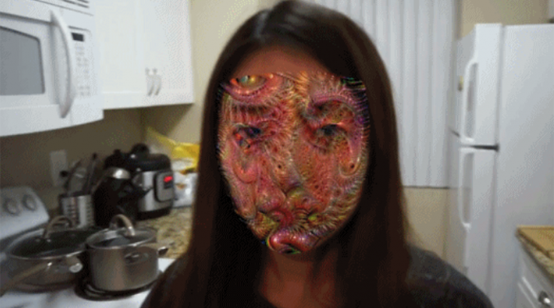 sistema de detección facial - camuflaje