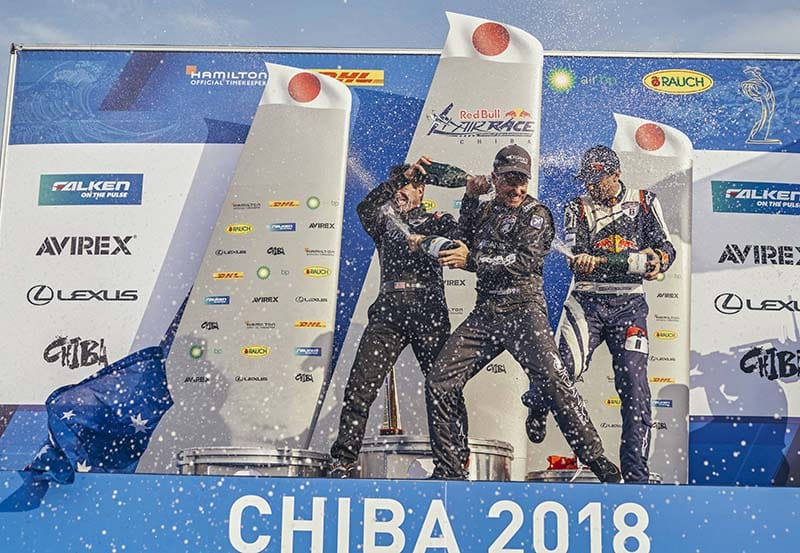 Podio Red Bull Air Race Japón 2018