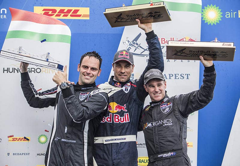 podio de la Red Bull Air Race de Budapest