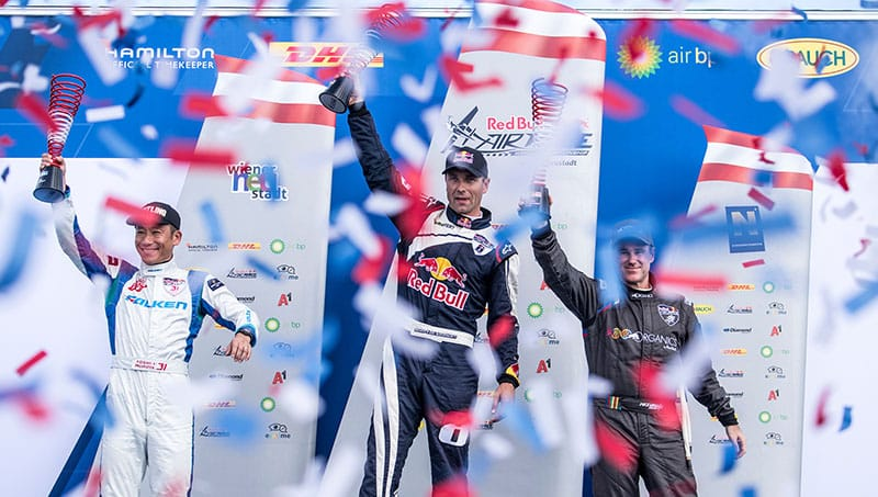 Podio Red Bull Air Race Austria 2018